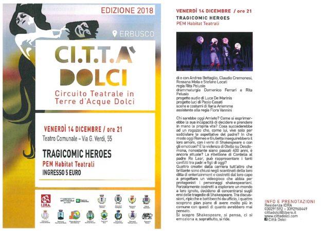 Immagine Evento CI.T.T.A' DOLCI -TRAGICOMIC HEROES