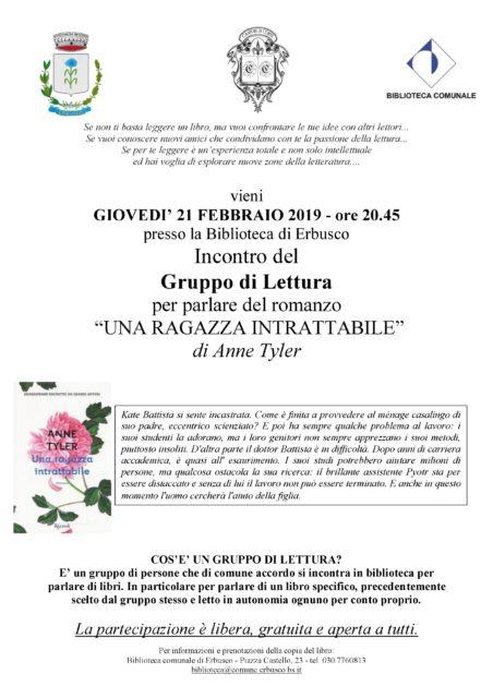 Immagine Evento Incontro gruppo di lettura mese di febbraio