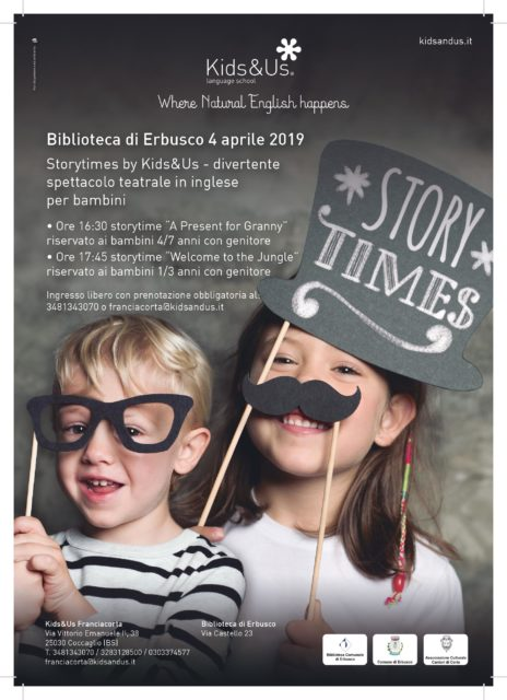 Immagine Evento Storytimes by Kids&US – Spettacolo teatrale in inglese per bambini