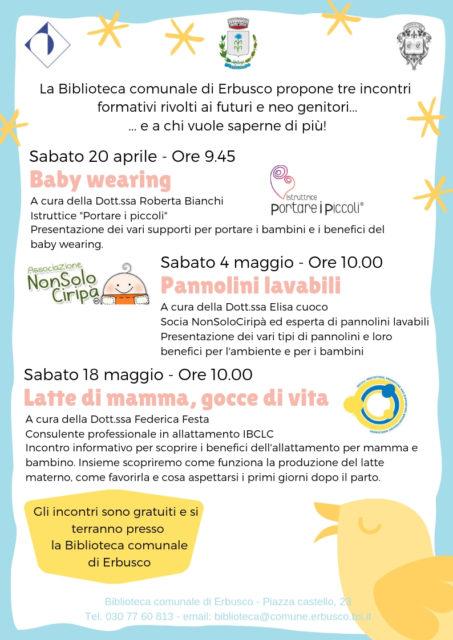 Immagine Evento Incontro formativo gratuito: pannolini lavabili