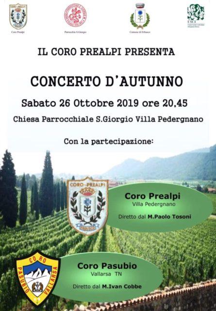 Immagine Evento Concerto d'autunno del Coro Prealpi