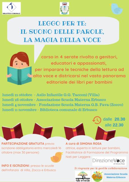 Immagine Evento Leggo per te: corso di lettura ad alta voce per adulti