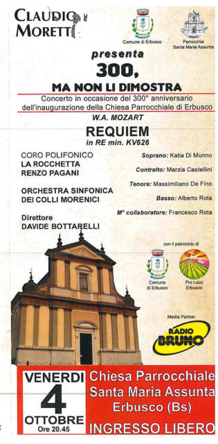 Immagine Evento MESSA da REQUIEM in RE min. KV 626  di W. A. MOZART