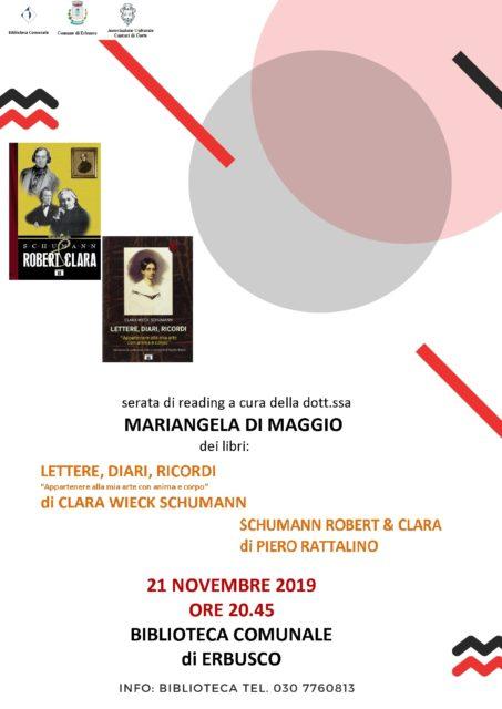 Immagine Evento Serata di reading a cura della dott.ssa Mariangela di Maggio