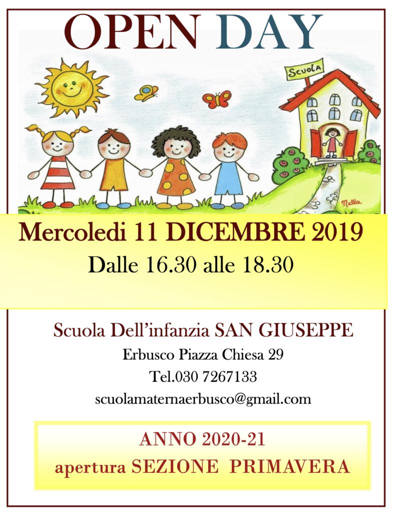 Immagine Notizia Open Day scuola dell'infanzia San Giuseppe