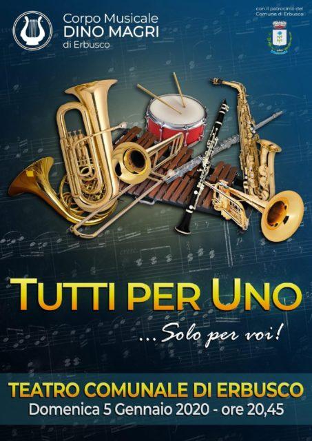 """Immagine Evento Concerto banda musicale Dino Magri """"Tutti per Uno … solo per Voi"""""""