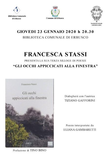 Immagine Evento Gli occhi appiccicati alla finestra: presentazione libro di Francesca Stassi
