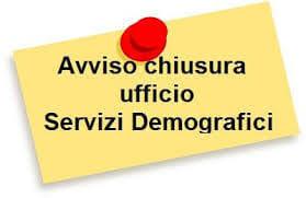Immagine Notizia CHIUSURA UFFICIO ANAGRAFE PER CAMBIO SOFTWARE DAL 31/07/21 AL 03/08/2021